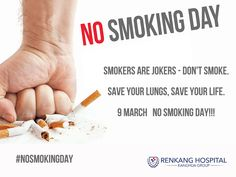 Celebrate 9 March #NoSmokingDay and save your life.
