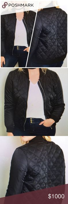 COMING SOONQuilted Bomber Jet The most popular item this season!! 100% Polyester Jackets & Coats