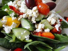A Greek Salad without Tomatoes is not the end of the world...who knew?