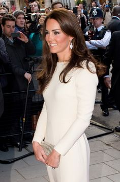 Kate Middleton in Roland Mouret gown at Claridge's Hotel. May, 2012.