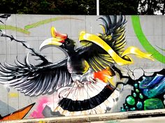 Bogotá Colombia - Street Art & Graffiti – This is from amazing corridor or Calle 26 (aka Avenida El Dorado) heading into El Centro District of Bogotá. The street art and graffiti is on par with the best in the world. World class artists have come to Bogotá! Original Photography by R. Stowe.