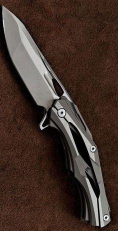 Wild Boar ALEXEY KONYGIN Transformers decepticon-1 folding Pocket knife Blade D2 stonewashed blade titanium alloy handle bearing washer