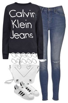 """Untitled #3786"" by keliseblog ❤ liked on Polyvore featuring Topshop, Calvin Klein, Linea Pelle and ASOS"