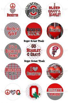 free bottle cap images | Custom ohio State Buckeyes 1 inch Circle Bottlecap Images ...