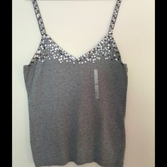 tank top grey tank top with sequins Old Navy Tops Tank Tops