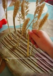 Farm theme activities - farm play dough wheat