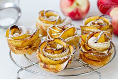 Nectarine Roses - Just imagine, buttery, flaky and crispy puff pastry rolls with layers of flavorful fruits, served warm sprinkled with a bit of powdered sugar. Totally irresistible dessert that takes only few minutes to prepare and also looks so beautiful.