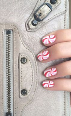 Candy Cane Cutie, nail wrap #nail