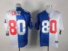 c8f95c1f8 Nike New York Giants 80  Victor Cruz Blue White Split NFL Jerseys New York  Giants