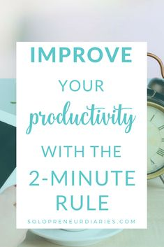 Improve Your Productivity With the Rule Need a quick tip to improve your productivity & time management? Use the rule to beat procrastination & work through all the small things you have to do. Productivity Apps, Increase Productivity, Importance Of Time Management, Time Management Tips, Business Planning, Business Tips, Productive Things To Do, Being Productive, How To Stop Procrastinating
