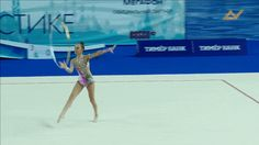 Dina AVERINA - Hoop Mastery Element Turning Stag Leap w/ Backbend Catch + Rebound of Hoop w/o Hands + Rotation © Media Art