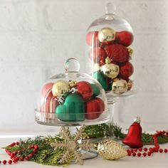 Cloche decorate for Christmas: 18 nice ideas