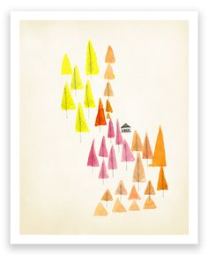 art prints birth prints, greeting cards posters Mara Girling Nicholas Girling: Art for the Home: Rocks  Forest