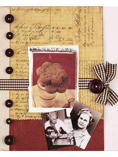 """Tips and Ideas for Making a Family Heritage Recipe Album"""" ~ This great tutorial is full of wonderful suggestions for making an entire heritage recipe album ~ or add just a few pages to your traditional heritage scrapbooks. There are no rules here so l Heritage Scrapbooking, Scrapbooking Layouts, Vintage Scrapbook, Scrapbook Paper, Making A Cookbook, Cookbook Ideas, Family Recipe Book, Recipe Books, Scrapbook Recipe Book"""