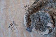 TEDDY BEAR Blanket by FullOfGrey on Etsy