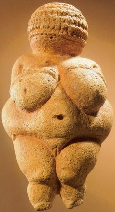 Venus of Wilendorf c. 28,000-25,000 BCE, Wilendorf, Austria, 11.1 cm high, discovered in 1908 by archaeologist Josef Szombathy at a paleolithic site near Willendorf (a village in Lower Austria near the city of Krems) (Prehistoric)