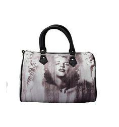 Super skøn Mary Monroe taske i rund model med korte hanke