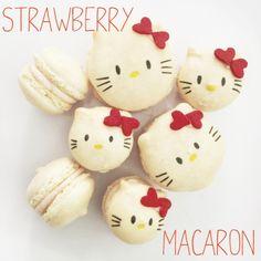 sooo cute! hello kitty macarons