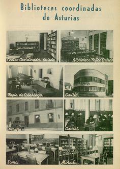 Bibliotecas años 40 en Asturias