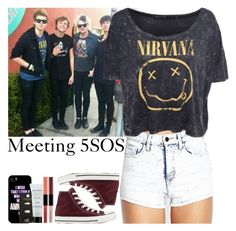 """""""Meeting 5 Seconds of Summer!"""" by courtneycarson3 ❤ liked on Polyvore featuring moda, Forever 21, Converse, Samsung, Topshop e Smashbox"""