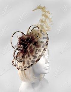 Kentucky Derby Leopard Print Fascinator Headpiece by ffortissimo, $149.00