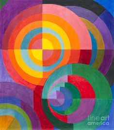 Swiss Johannes Itten was a pivotal member of the Bauhaus. From He associated certain colors with specific emotions. His book The Art of Color was a synopsis of his teachings at the Bauhaus. Johannes Itten, Bauhaus Art, Gallery Of Modern Art, Guache, Color Studies, Wassily Kandinsky, Art Furniture, Art Plastique, Color Theory