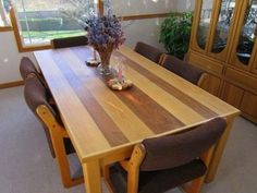 Dining Room Table Plans Woodworking Ideas - Damn gorgeous!
