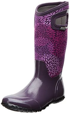 Bogs Womens North Hampton Floral Rain M US >>> Be sure to check out this awesome product. (This is an affiliate link) Mud Boots, Bogs Boots, Shoe Boots, Women's Shoes, Hipster Shoes, Purple Accessories, Purple Boots, Insulated Boots, Knee High Boots