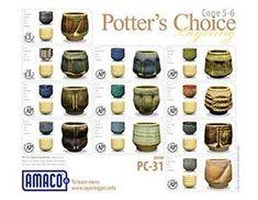(PC) Potter's Choice : High Fire Glazes | AMACO  Oatmeal