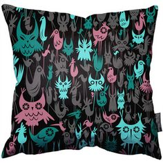 Birds In The Woods Throw Pillow, $58, now featured on Fab.
