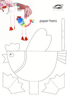 Tavuk Kalıbı - Story Tutorial and Ideas Easter Activities, Craft Activities, Easter Crafts For Kids, Diy For Kids, Diy And Crafts, Paper Crafts, Chicken Crafts, Preschool Art, Animal Crafts