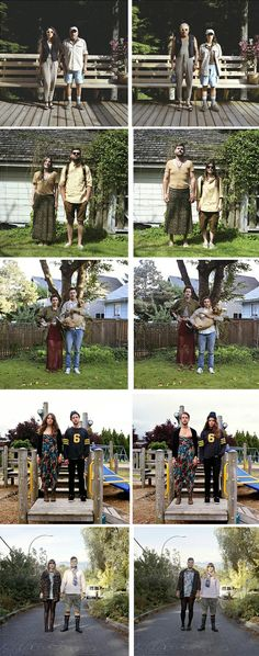 Switcheroo: An experimental photography project by Hana Pesut where she encouraged couples to change clothes with each other. Do check out more of her amazing work at http://sincerelyhana.com