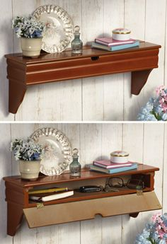Hidden Storage Decorative Wall Shelf