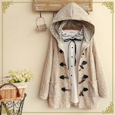 Buy 'Fairyland – Toggle Hooded Knit Jacket' with Free International Shipping at YesStyle.com. Browse and shop for thousands of Asian fashion items from China and more!