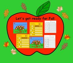 Free Fall Counting (Interactive Smartboard Lesson and Printables) Autumn iDeas 🍂 Special Education Classroom, Classroom Fun, All About Me Activities, Powerpoint Lesson, Special Needs Students, First Grade Math, Grade 1, Thing 1, Good Luck To You