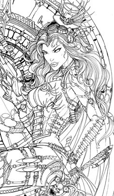 LadyDeath SteamQueen ink lady by jamietyndall on DeviantArt