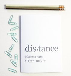 Distance Can Suck It Greeting Card Long Distance by BySeaAndSky