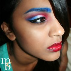 Love this Independence Day FOTD. Looks like a chic version of Captain America!