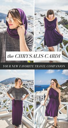 The Chrysalis Cardi is the PERFECT travel companion!  Wear it in 8+ ways and save SO MUCH SPACE when packing!