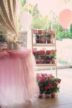 Favor Stand from a Pink & Gold Princess Party via Kara's Party Ideas | KarasPartyIdeas.com | The Place for All Things Party! (8)