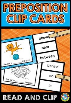 #PREPOSITIONS #TASK #CARDS: near, behind, in front of, beside, above, in, on, under & between.