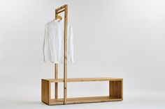 Ideas for clothes hanger storage ideas simple Closet Storage, Storage Boxes, Closet Bench, Entryway Closet, Storage Ideas, Diy Clothes Hanger Rack, Closet Hangers, Coat Hanger, Wood Furniture