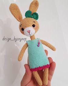 Leithygurumi: Amigurumi Narin Tavşan - Türkçe / Amigurumi Bunny with Dress English Pattern