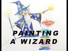 In this short video I paint a wizard. One of the characters from my children's book. My Children, Childrens Books, Disney Characters, Fictional Characters, Character Design, Illustration, Artwork, Artist, Painting