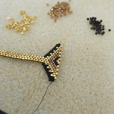 Pendientes de ganchillo hecho a mano De mujer del ganchillo del algodón beige Pendientes Con Cuentas Bicónicas