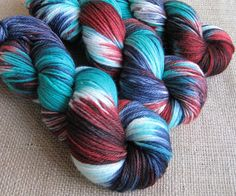Zombie Flannel - Superwash Merino Yarn  in DK Weight - Hand Dyed by GnomeAcres, $18.00