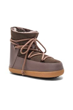 I love you  INUIKII Sneakers Classic Tall Boot with Lambskin in Taupe