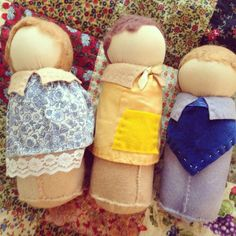Waldorf puppet dolls for storytelling can't wait for playgroup to start again so we can bring them to life #storytelling #waldorfdolls #Waldorf