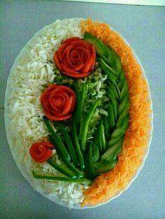 Vegetable Salad Decoration Competition Decoration For Home