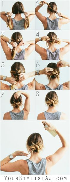 Knot Bun Hair Tutori